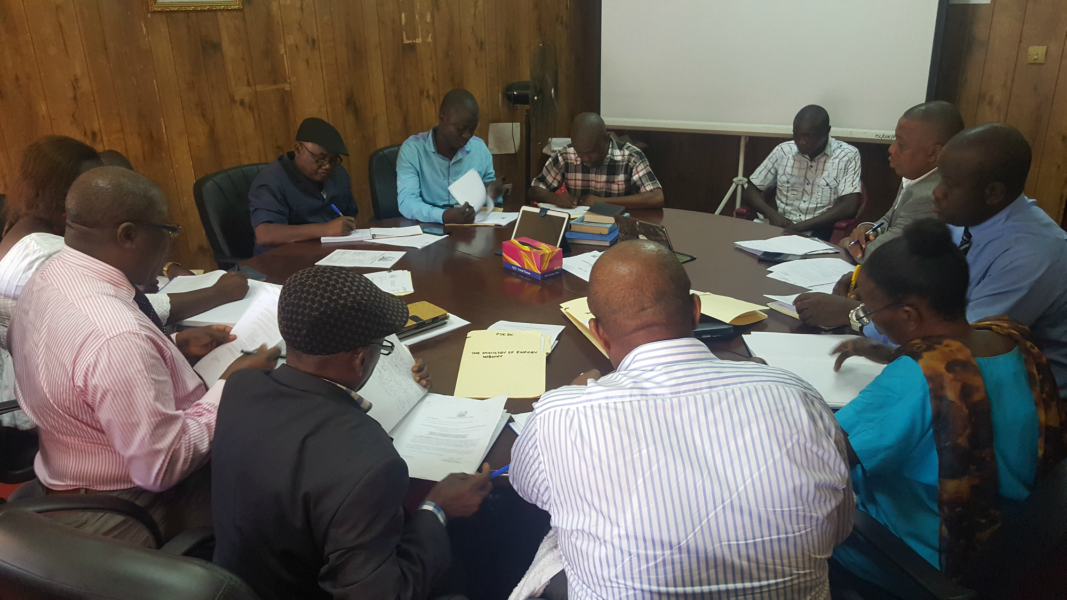 Administrative Inquiry session with Ministry of Energy officails at PSC Conference Room