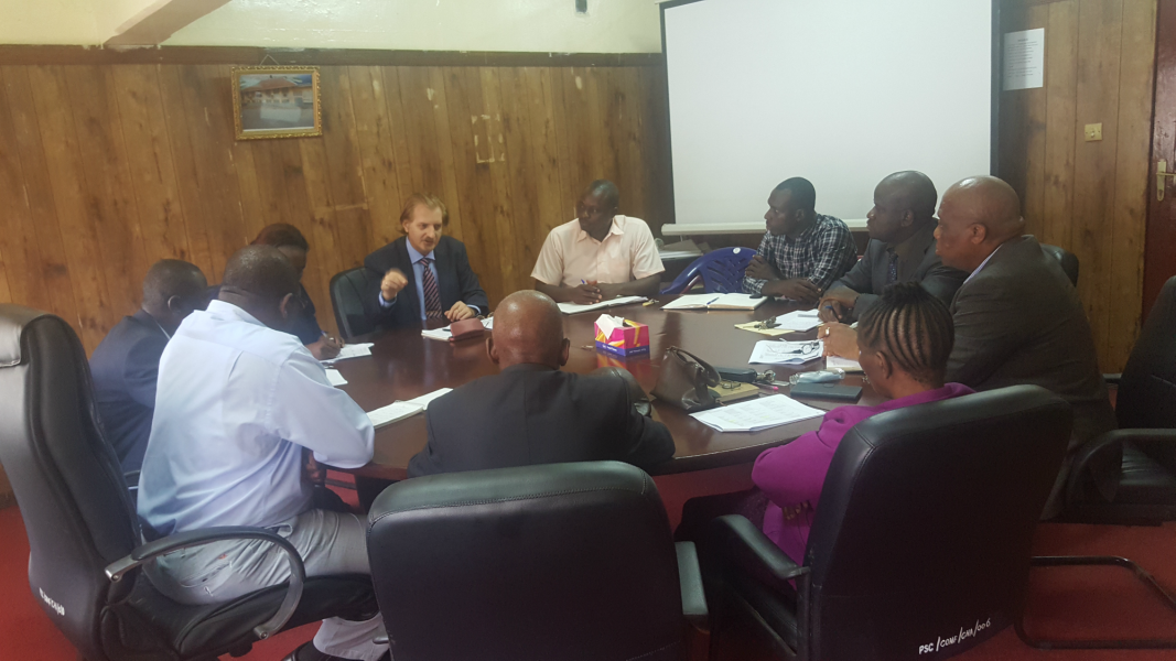 PSC Commissioners and Staff meets with EU hired Consultant Dr.VladimirD.MomcilovicEsq