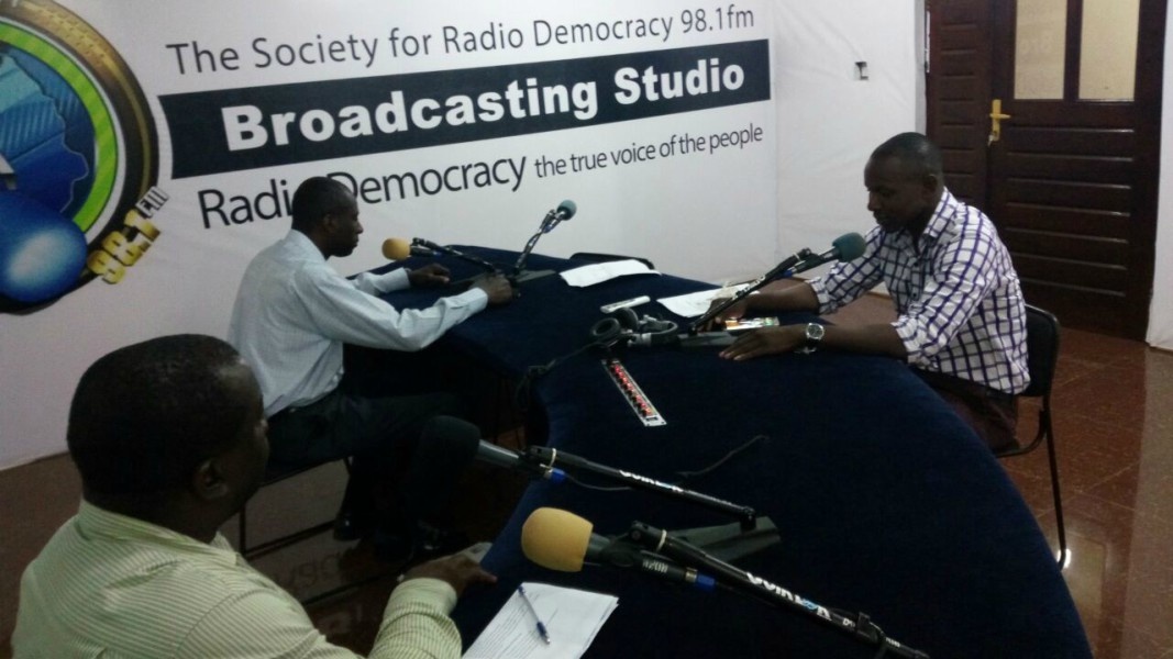 PSC Communications Manager on Right Participate in IMC discussions at RadioDemocracy FM98.1